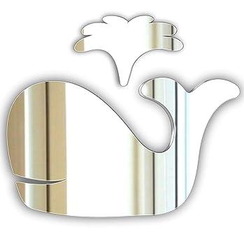 Poisson Acrylique Miroir maison salle de bains de chambres d/'enfants sécurité miroir incassable
