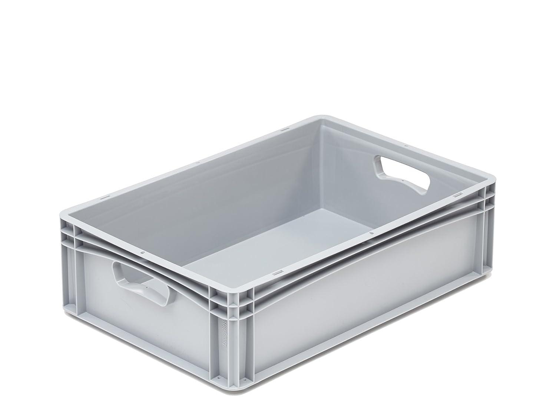 hü nersdorff Eurobehä lter / Eurokiste / Lagerbox Basicline (PP) mit 2 Handgriffen, sicher stapel- und kombinierbar, Made in Germany HNERT 417504