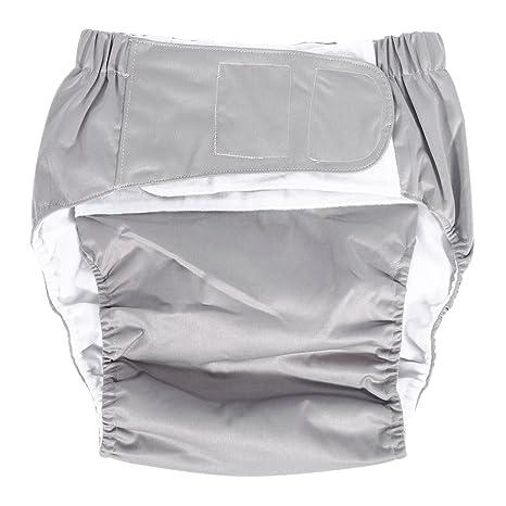 Adecuado para Hombres Mujeres Adolescentes Yotown Adultos pa/ñales de Tela 2Pcs Diaper Insert Pad Ajustado pa/ñal de pa/ñal Reutilizable y Ropa Interior Protectora de Cuidado de incontinencia