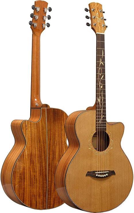 NUYI 40 Pulgadas Guitarra Folk Grado Profesional Tocando Guitarra ...