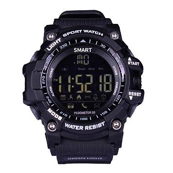 Longra Reloj Relojes Deportivos Inteligentes Digitales Reloj Bluetooth Fitness Tracker para iOS y Android (Negro): Amazon.es: Deportes y aire libre