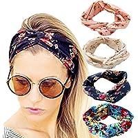 dreshow 1950del clásico Estilo Moderno Elástico Mujer turbante Headbands Twisted lindo banda de pelo accesorios