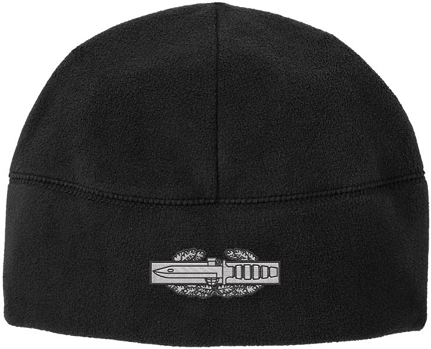 Army Combat Action Badge CAB Veteran Embroidered Beanie Watch Cap (Black) ea7e4b56b39