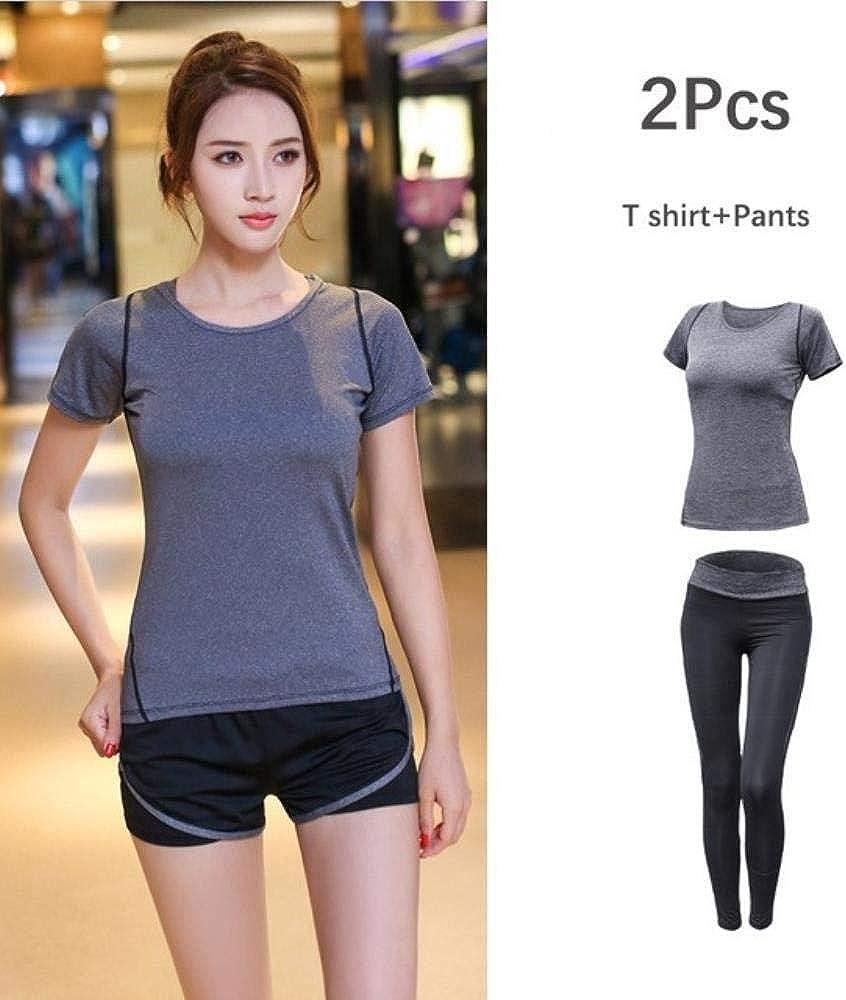 Fitness-Set T-Shirt Hose Workout SNV Damen-Sportbekleidung Fitness Damen-BH Trainingsanzug Yoga-Sportanzug atmungsaktiv Shorts
