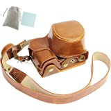 No.2 Warehouse New Style PU Leather Camera Case Bag With Shoulder Strap for Sony A6300 A6000 with 16-50mm lens (brown)+ a Piece of Clean Cloth