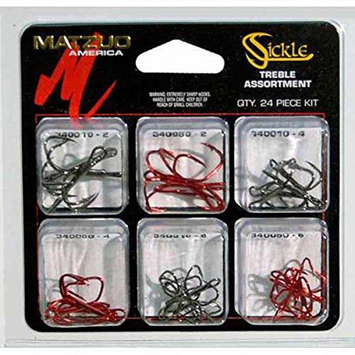Matzuo Sickle Treble Hook Assortment (Assorted, Assorted)