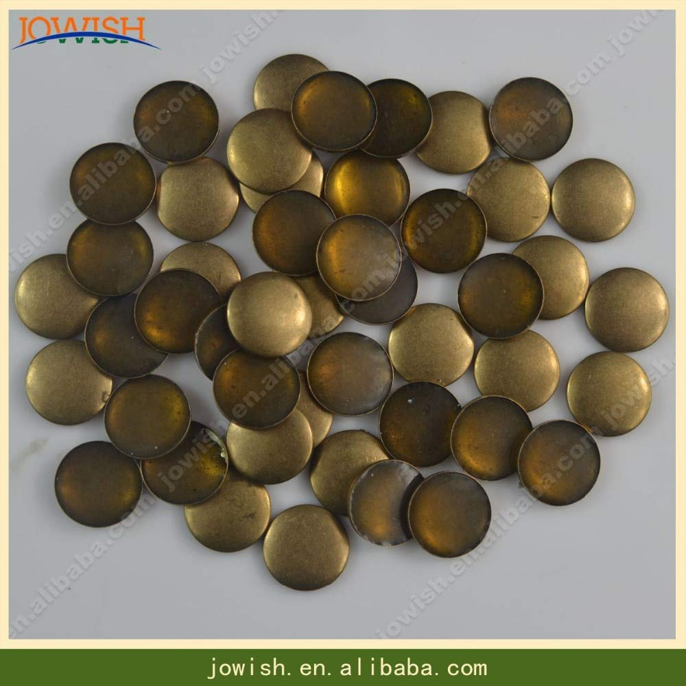Garment Rivet - Wholesale 10000pcs per Pack Spike Rivets per Bags Round Rivet Studs and Spike for Clothes Stud on Christmas Ornament - (Color: Bronze, Size: 10mm)