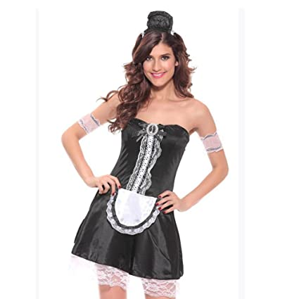 Amazon.com : Lingerie For Women Sexy Maid Uniform Outfits ...