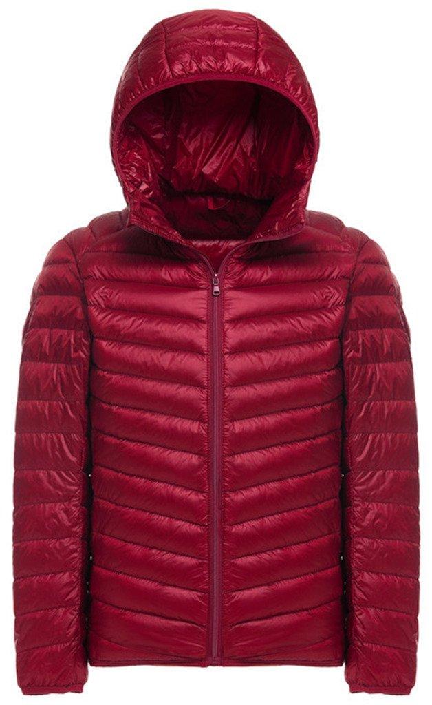 Sawadikaa Men's Packable Puffer Padded Hooded Lightweight Short Down Jacket