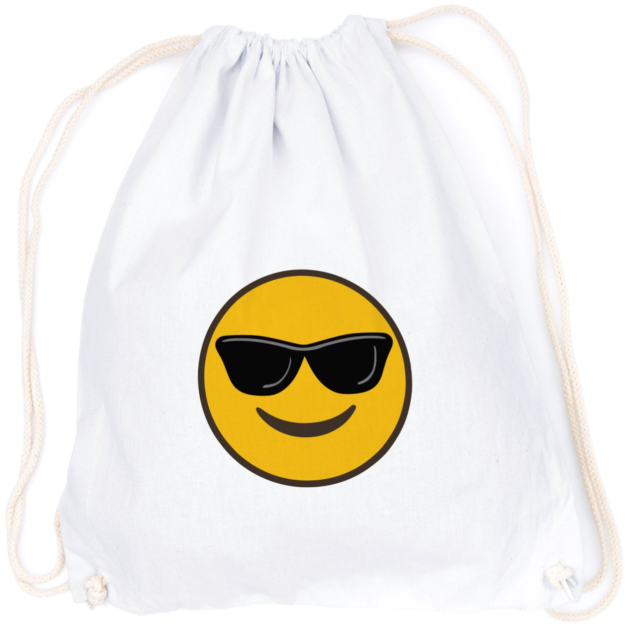 Cooler Smiley con gafas de sol Emoticon Emoji/TURN Bolsa con ...