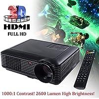Fashion 5000 Lumens HD 1080P Home Theater Projector 3D LED Portable SD HDMI VGA USB New