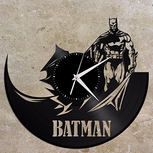 VinylShopUS – Batman Vinyl Wall Clock Movie Theme Retro Decor