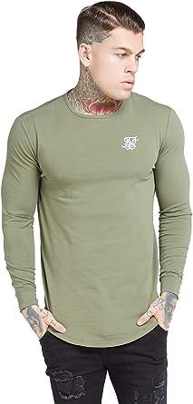 Sik Silk SS-15819 - Camiseta para hombre, color caqui verde ...