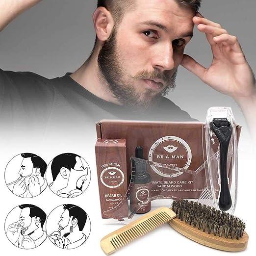su-xuri 5Set Kit Cuidado Barba para Hombres, Kit Barba para ...