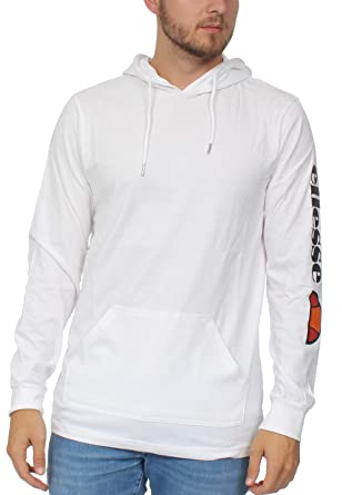 8b19e46a ellesse Mens Hoodie in White: Amazon.co.uk: Clothing