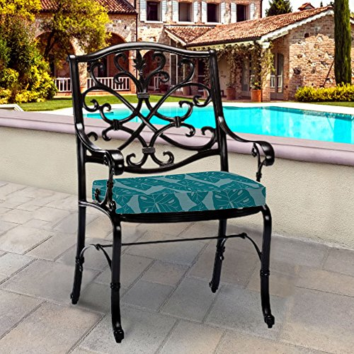 (Thomas Collection Outdoor Cushions, Teal Patio Cushions, Sunbrella Outdoor Cushions, One Outdoor Patio Seat Cushion, Handmade in US,)