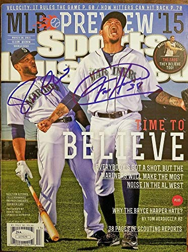 - Robinson Cano Felix Hernandez Autographed Signed Auto Autographed Signed Sports Illustrated JSA