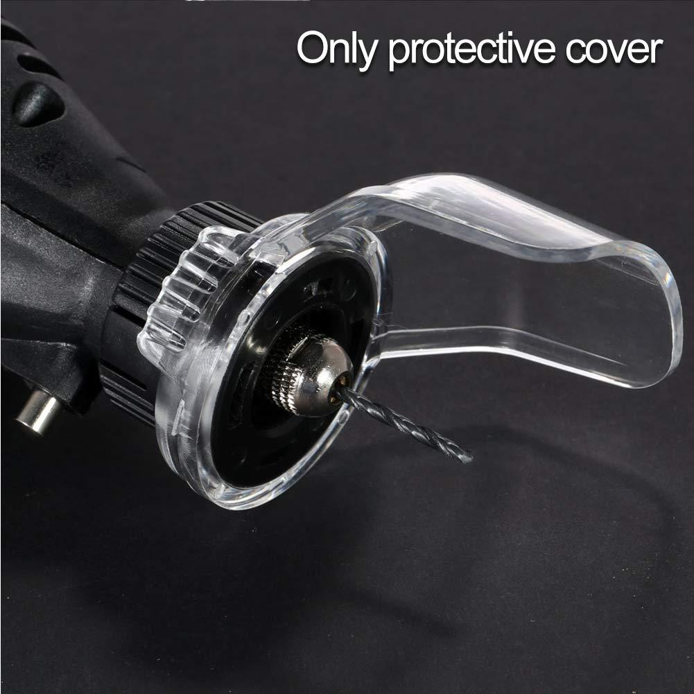 Couvercle de broyeur /électrique Accessoires de gravure transparents de protection anti-/éclaboussures /Étui /étanche /à la poussi/ère Mini-outil rotatif shiled machine de d/écoupe de s/écurit/é en plas