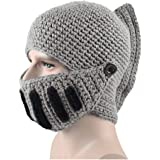 Midress Roman Gladiator Knight Manual Knit Hat Winter Mask Cap Unisex,Warm Cap Christmas Hat Beanie, Winter Snow Hat…