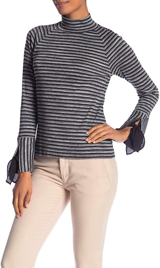Laundry by Shelli Segal Stripe Turtleneck Long Sleeve Top