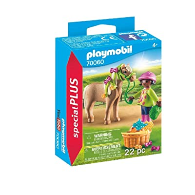 PM Playmobil 70060 Girl with Pony: Toys & Games