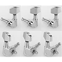 Musiclily 3x3 Epi Style Sealed Guitar Tuners Tuning Pegs Keys Machine Heads, Big Button Chrome