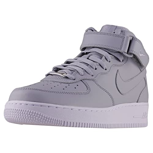 new arrival 45ca1 0a9c6 Nike Men s Air Force 1 Mid  07 Le Basketball Shoes, Wolf Grey White