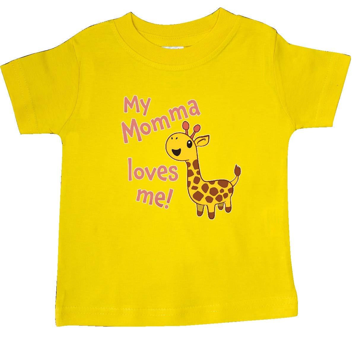Cute Giraffe Baby T-Shirt inktastic My Momma Loves Me