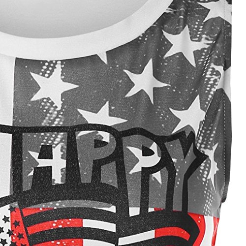 ????Vovotrade???? Women's Casual O-Neck T-Shirt Flag Letters Print Shirt American Day Tank Top Blouse