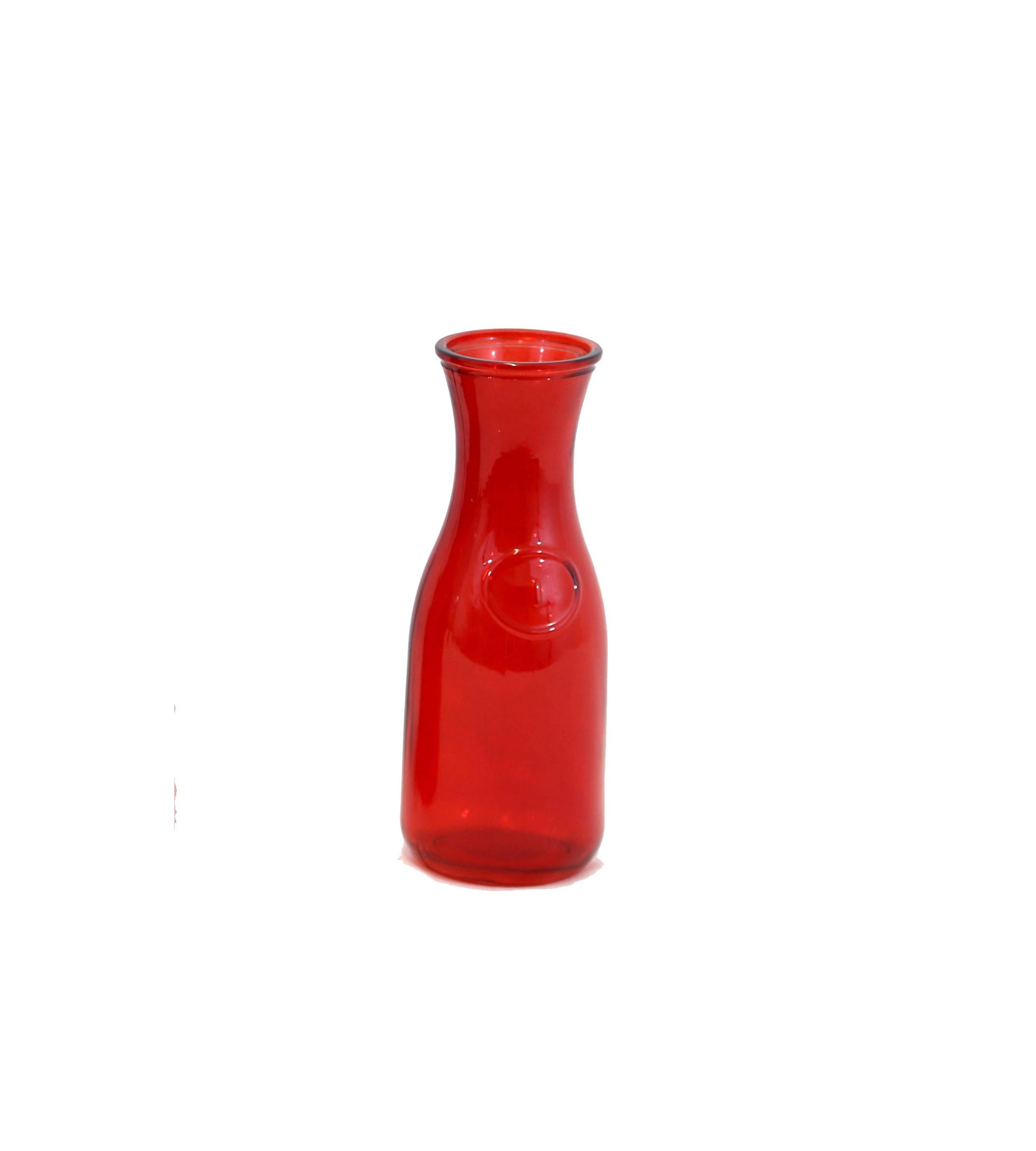 Small Red Tapered Glass Vase - Set Of 3