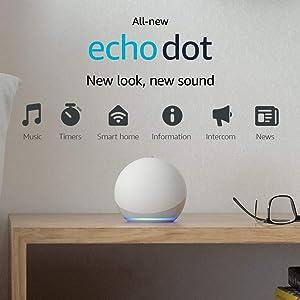 All-new Echo Dot (4th Gen, 2020 release)   Smart speaker with Alexa   Glacier White
