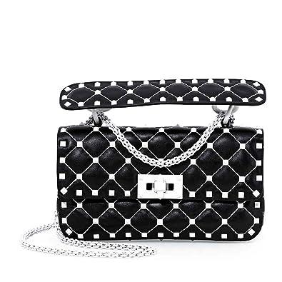 951e548def Valentino Rockstud Spike Small Shoulder Bag- Black: Handbags: Amazon.com