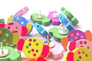 Amazon.com : 20 PCS Colorful Candy Push Pins, Cute Pushpins ...