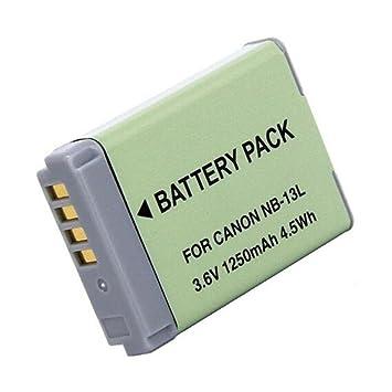 1 Piezas 1250 mAh NB-13L NB13L Batería para Canon G5X G7X G7X Mark II G9X SX620 HS SX720 HS Cámara (1 pcs Battery): Amazon.es: Electrónica