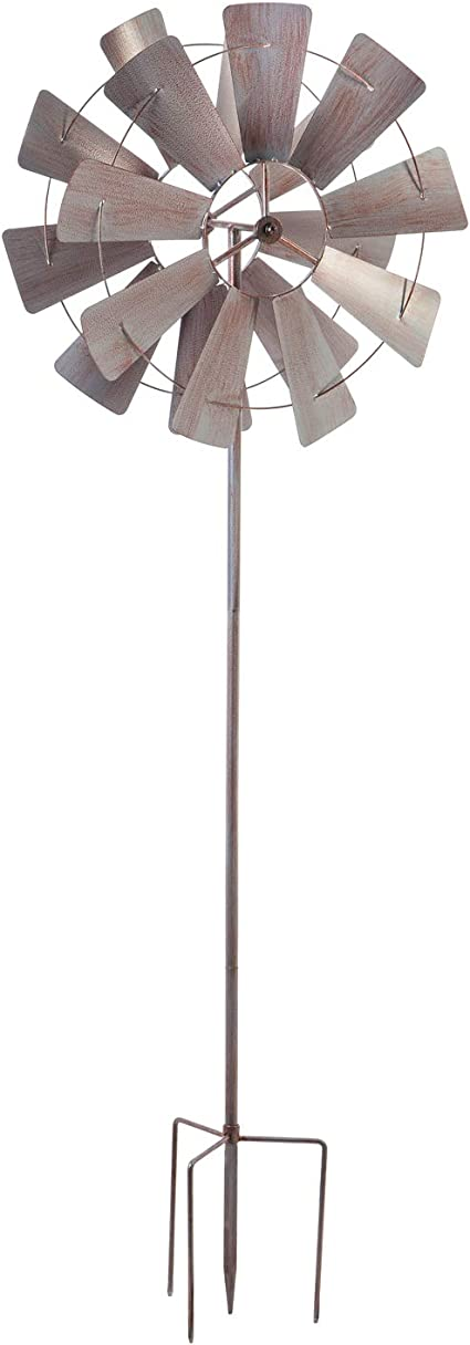 Garden Windmill Spinner Wind Catcher Ornament Decor Set of 2