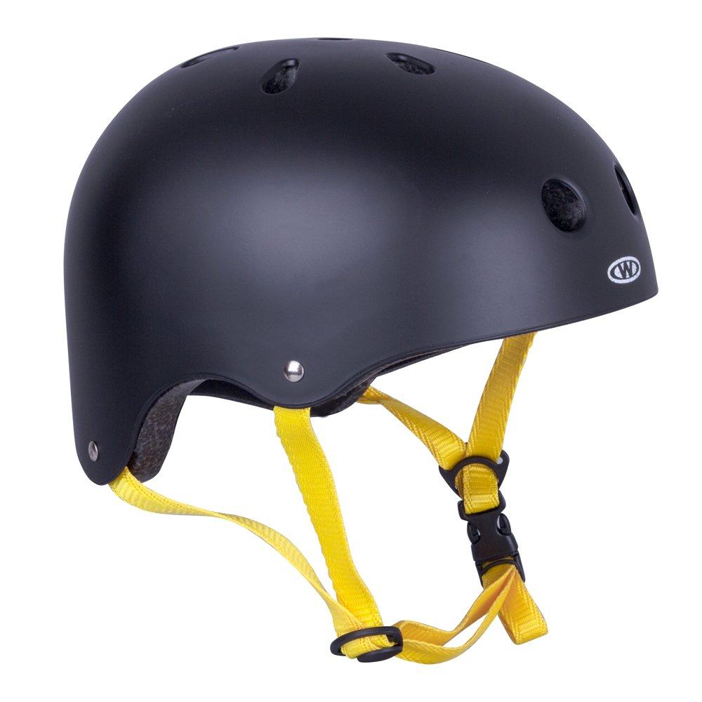 Skaterhelm Rivaly schwarz/gelb Gr. 48-52, 52-55, 55-58, 58-60 cm verstellbar Insportline 14233