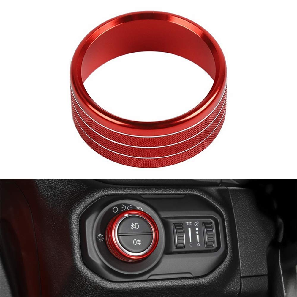 sparkle-um Blue 4ps Car Interior Accessories Air Conditioner Audio Switch Decorative Ring Button Cover Air Conditioning /& Headlight Switch Knob Ring Cover Decor Trim for Jeep Wrangler JL 2018