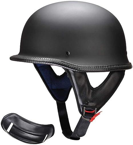 M//L//XL DOT Motorcycle German Style Half Face Helmet Motocross Bike Matte