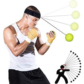 SGODDE Boxen Training Ball Trainingsger/ät Speedball f/ür Boxtraining Zuhause und Outdoor Speed Fitness Punch Boxing Ball mit Kopfband Reflex Fightball