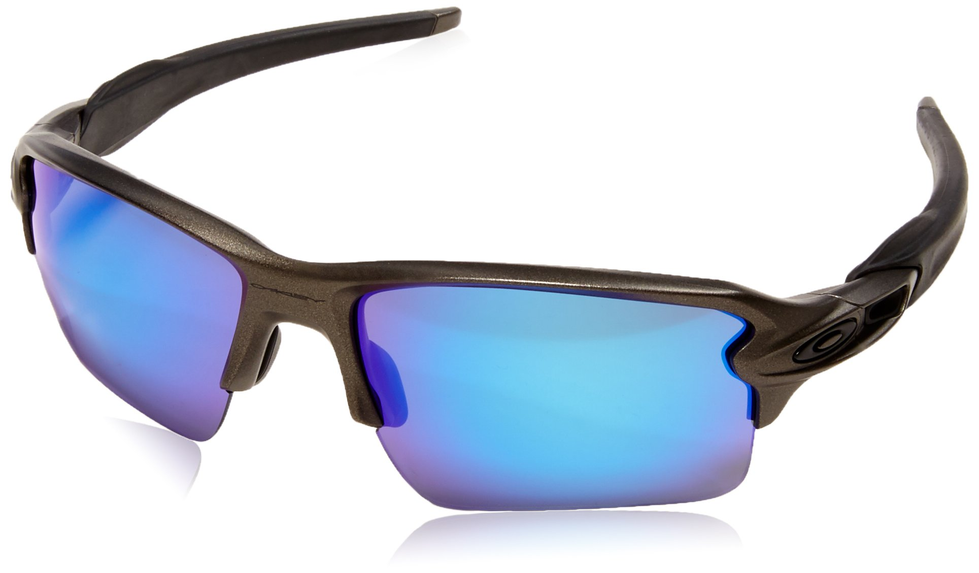 Oakley Men's Flak 2.0 XL Non-Polarized Rectangular Sunglasses Lead w/Sapphire Iridium 59 mm