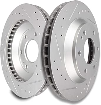 Front /& Rear Drilled Slotted Brake Rotors For OLDSMOBILE BRAVADA GMC ENVOY