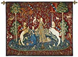Fine Art Tapestries the Lady and the Unicorn Taste Wall Tapestry