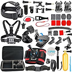 Hapy Accessory Kit For Gopro Hero6,5 Black,gopro Fusion,hero Session,hero (2018), Hero 6,5,4, 3+,3,campark Act74,xiaomi,akaso Apeman Dbpower,sports Camera Accessories