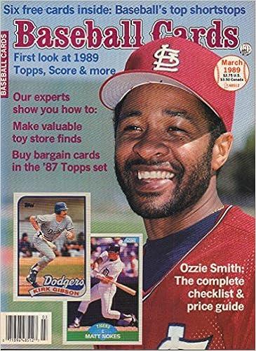 Baseball Cards March 1989 Ozzie Smith Matt Nokes Kirk Gibson Kp