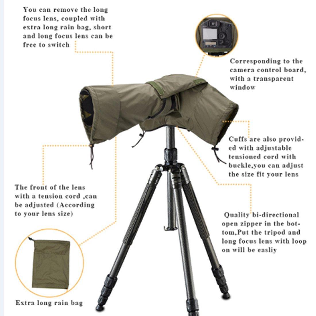 Safrotto Camera Rain Cover for DSLR/SLR Cameras Protector Canon Nikon  Olympus,Pentax,Fuji Sony,Tamrox,Sigma Black-S