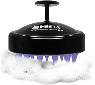 Hair Scalp Massager, Heeta Shampoo Brush with Soft Silicone Head Massager (Black)
