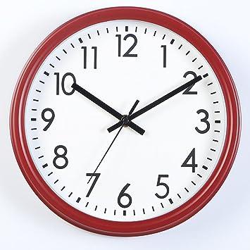 Aoligei Relojes de Pared 12 Pulgadas Reloj Pared Digital Reloj Dormitorio hogar Oficina Simple El Reloj de Pared Perfecto para una Oficina, salón de Clases, ...