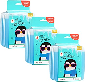 12-Pack Fit & Fresh Cool Coolers Slim Ice Beach Bags