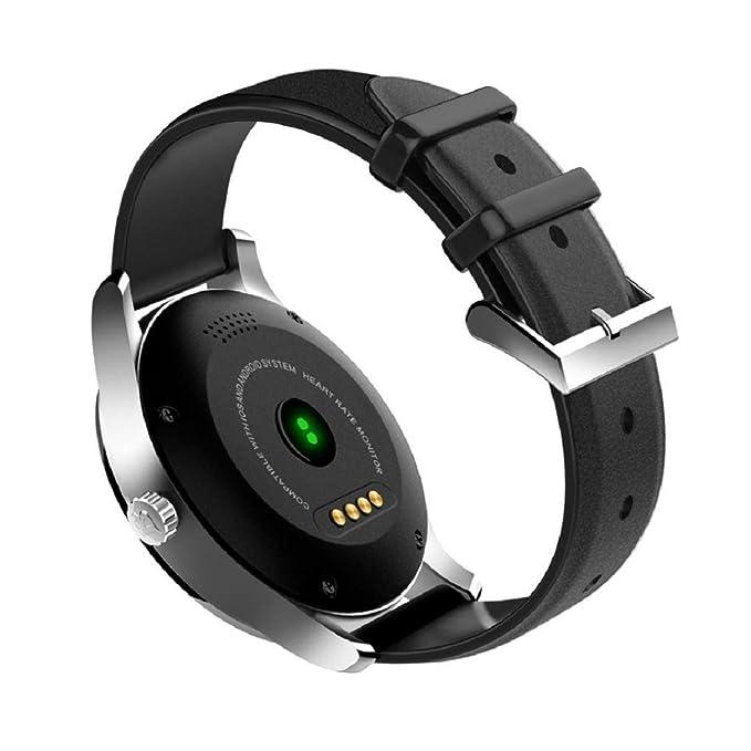 Reloj inteligente, Transer® Bluetooth inteligente relojes k88h Mtk2502 C Bluetooth inteligente relojes ritmo cardíaco pista reloj de pulsera correa de cuero ...