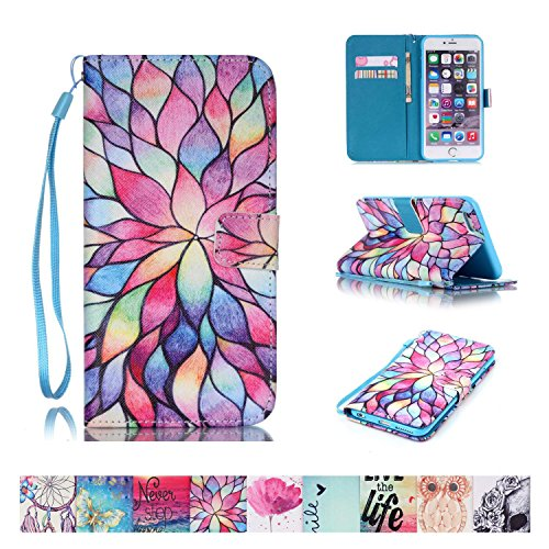 iPhone SE Case, iPhone 5/5S Case, Firefish [Card Slots] [Kickstand] Flip Folio Wallet Case Synthetic Leather Shell Scratch Resistant Protective Cover for Apple iPhone 5/5S SE
